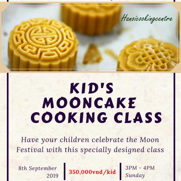 Kid's mooncake cooking class